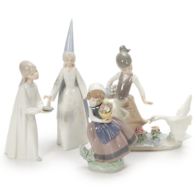 "Lladró ""Spring is Here"" Porcelain Figurine Designed by José Puche with Others"