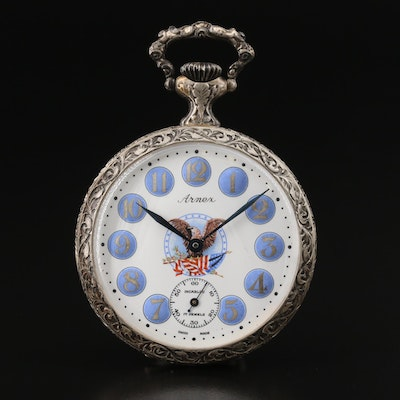 Swiss Arnex Robert and John Kennedy Commemorative Pocket Watch