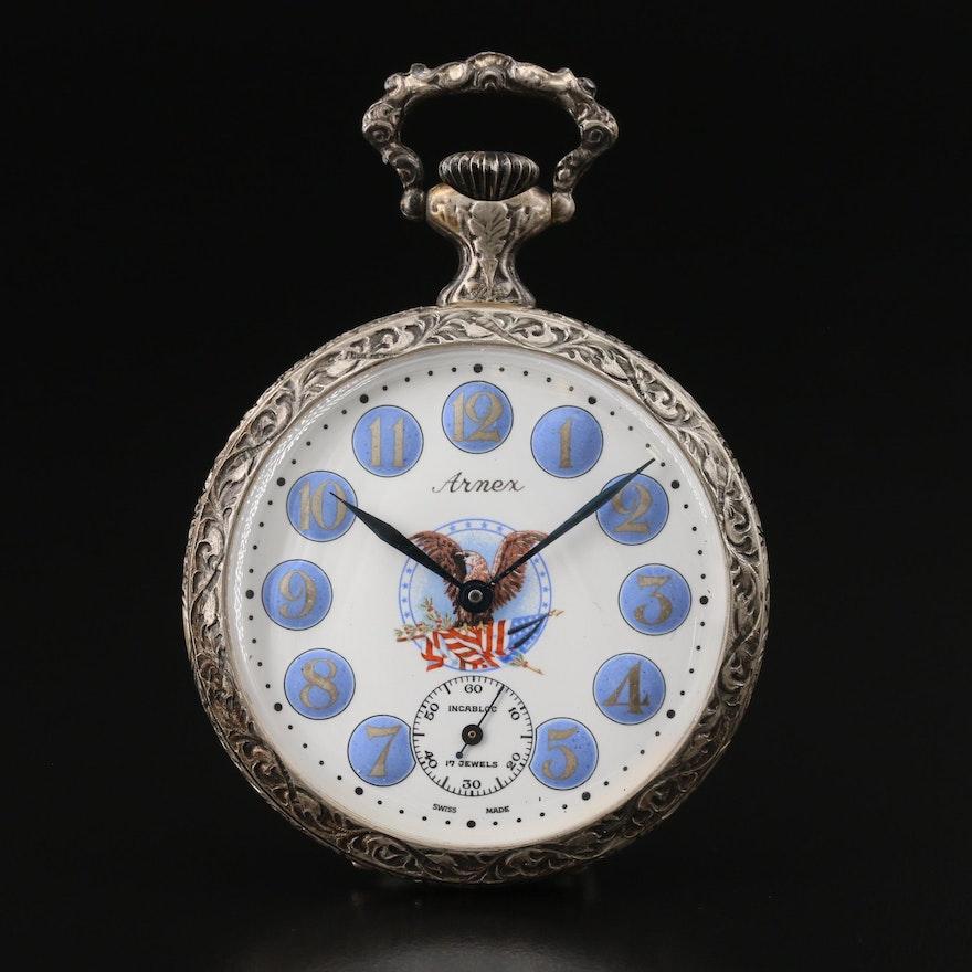 Swiss Arnex Robert and John Kennedy Commemorative Pocket Watch