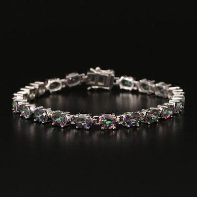 Sterling Mystic Topaz Line Bracelet