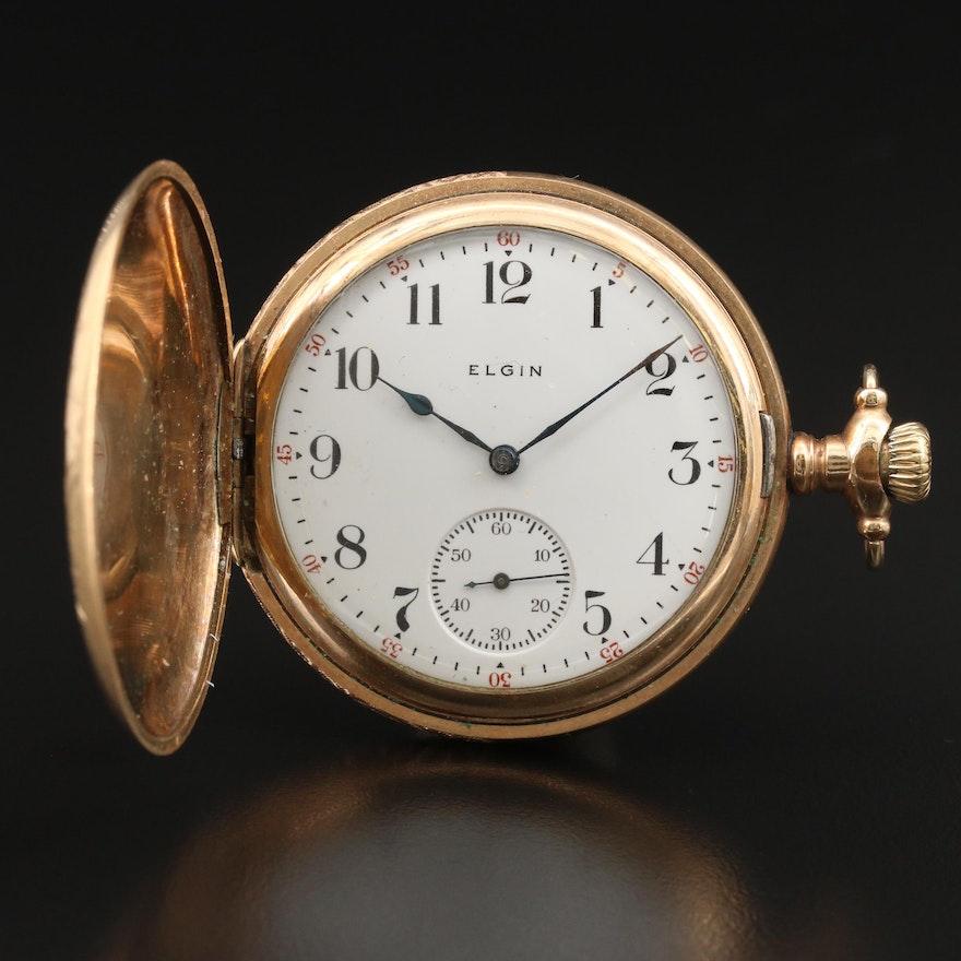 1914 Elgin Hunting Case Pocket Watch