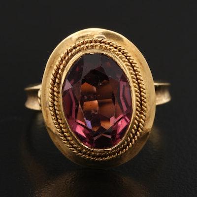 Vintage 18K Amethyst Ring