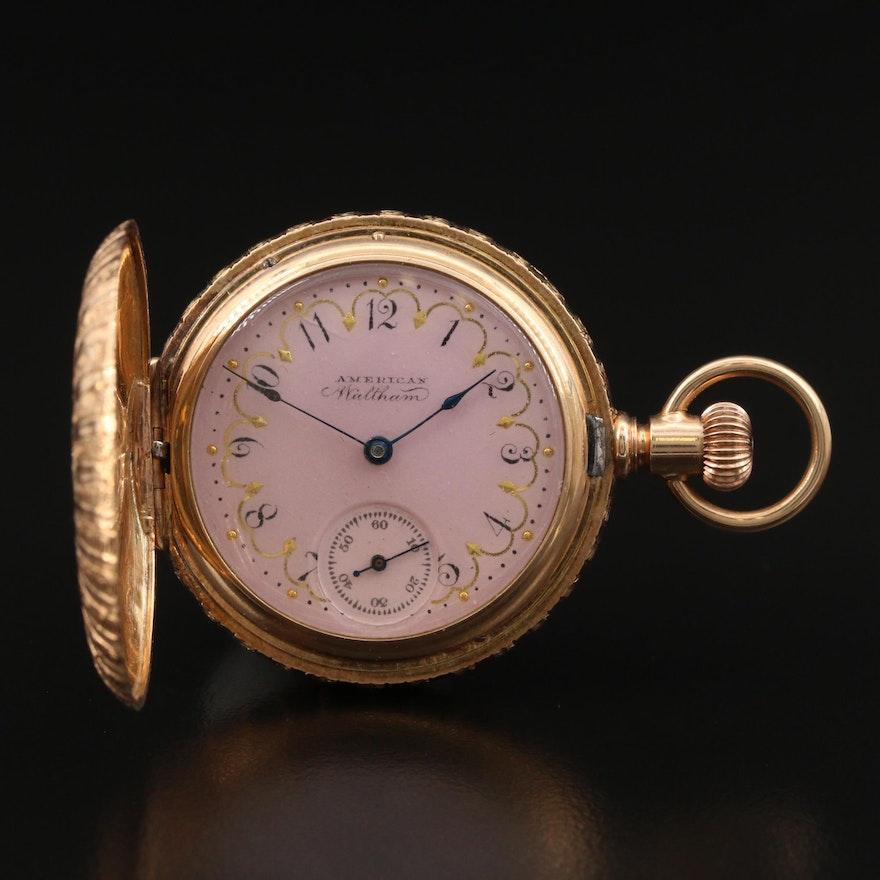 1890 American Waltham 14K Multi-Colored Pocket Watch