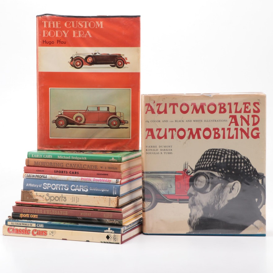 """Automobile Reference Books Including Illustrated """"Automobiles and Automobiling"""""""