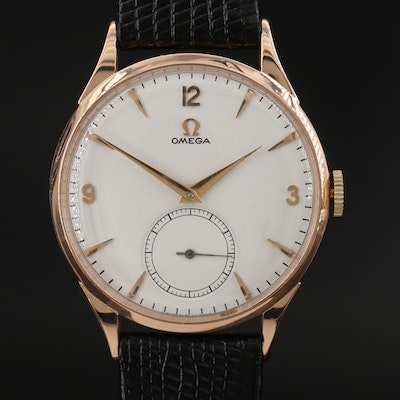 Vintage Omega 18K Rose Gold Wristwatch