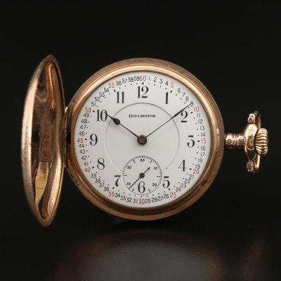 1921 Burlington Montgomery Dial Pocket Watch