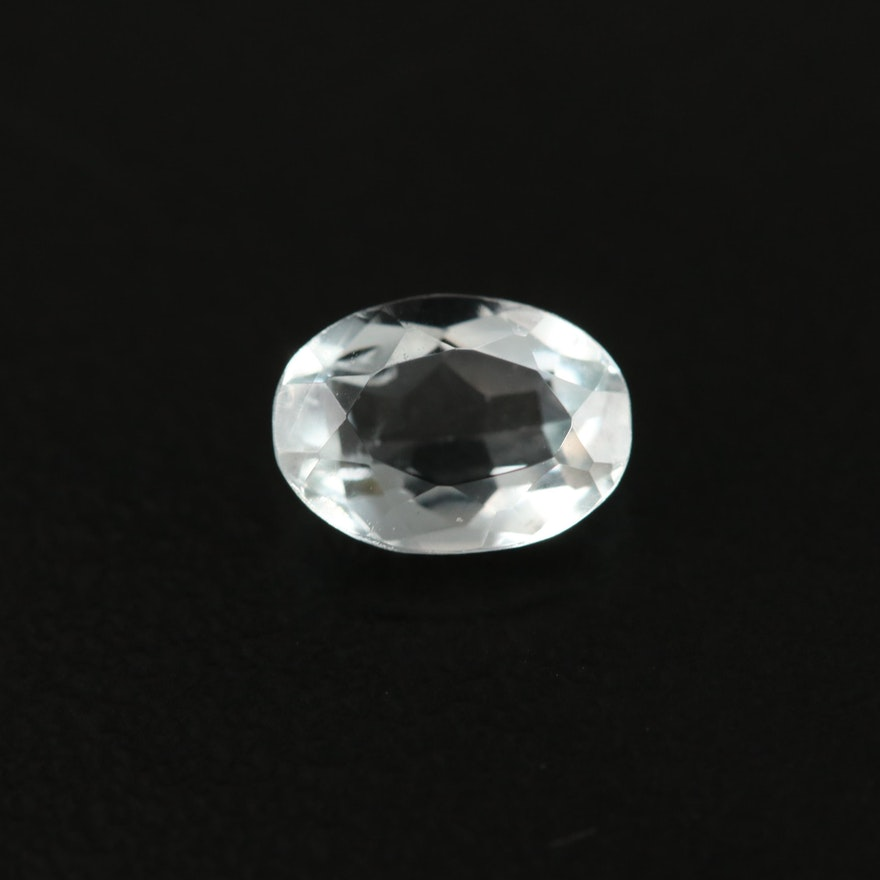 Loose 0.80 CT Oval Faceted Aquamarine
