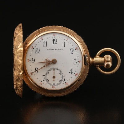 Wright, Kay & Co. 14K Pocket Watch