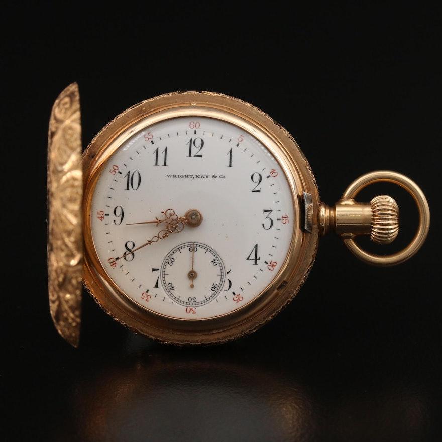 Wright, Kay & Co. 14K Pocket Watch