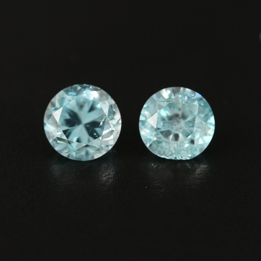 Loose 5.78 CTW Matched Pair Zircons