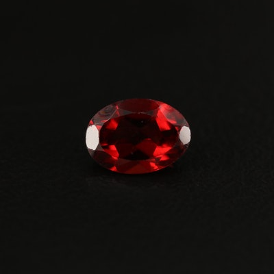 Loose 0.95 CT Oval Faceted Garnet