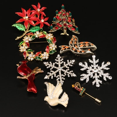 Christmas Themed Rhinestone Jewelry