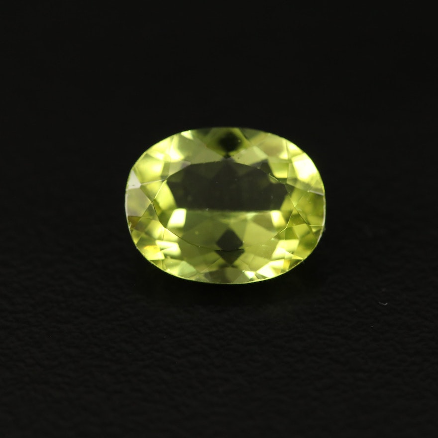 Loose 2.41 CTW Oval Faceted Peridot