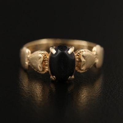 14K Black Onyx Ring