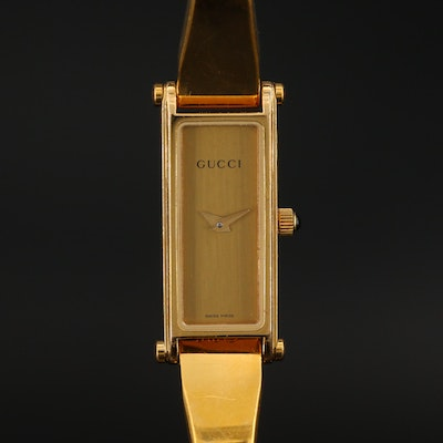 Vintage Gucci Bangle Style Wristwatch