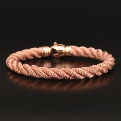 Sterling Mesh Twisted Bracelet