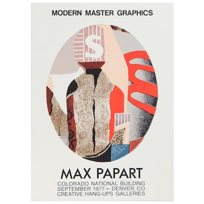 Lithograph Exhibition Poster after Max Papart, 1977