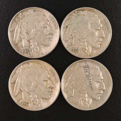 Four Buffalo Nickels