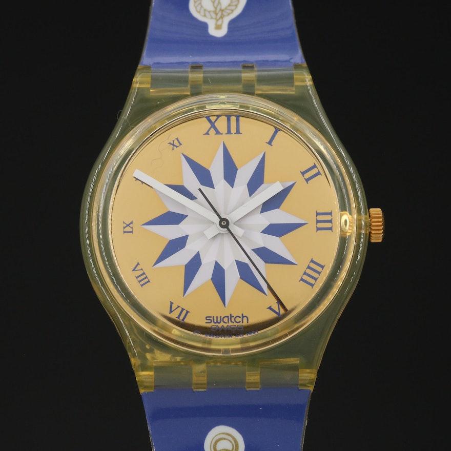 "Swiss Swatch ""Blue Anchorage"" Wristwatch"