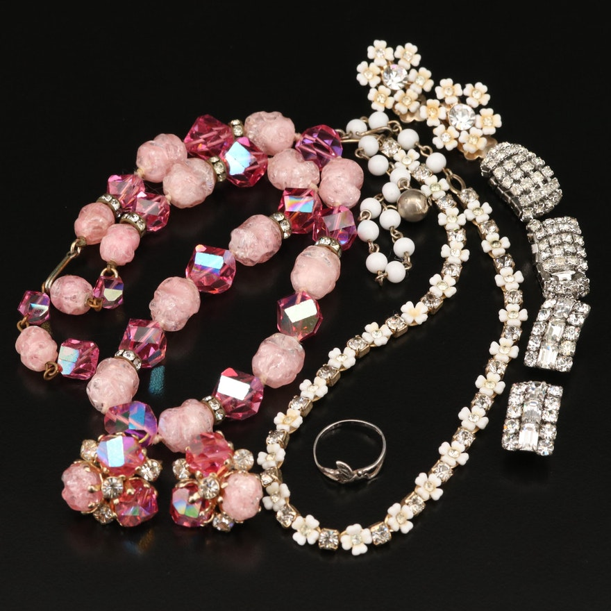 Vogue Rhinestone Necklace and Earring Set and More