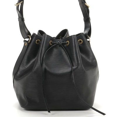 Louis Vuitton Petit Noé Shoulder Bag in Black Epi Leather
