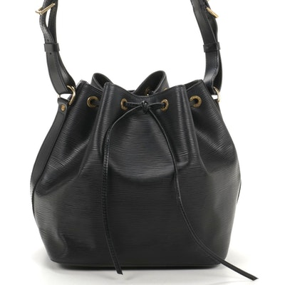 Louis Vuitton Petit Noé Shoulder Bag in Black Epi Leather