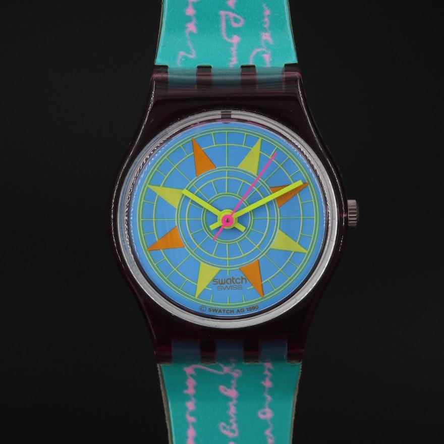 """Swiss Swatch """"Compass"""" Wristwatch"""