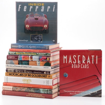 Reference Books on Sports Cars Including Ferrari, Maserati and Rolls-Royce