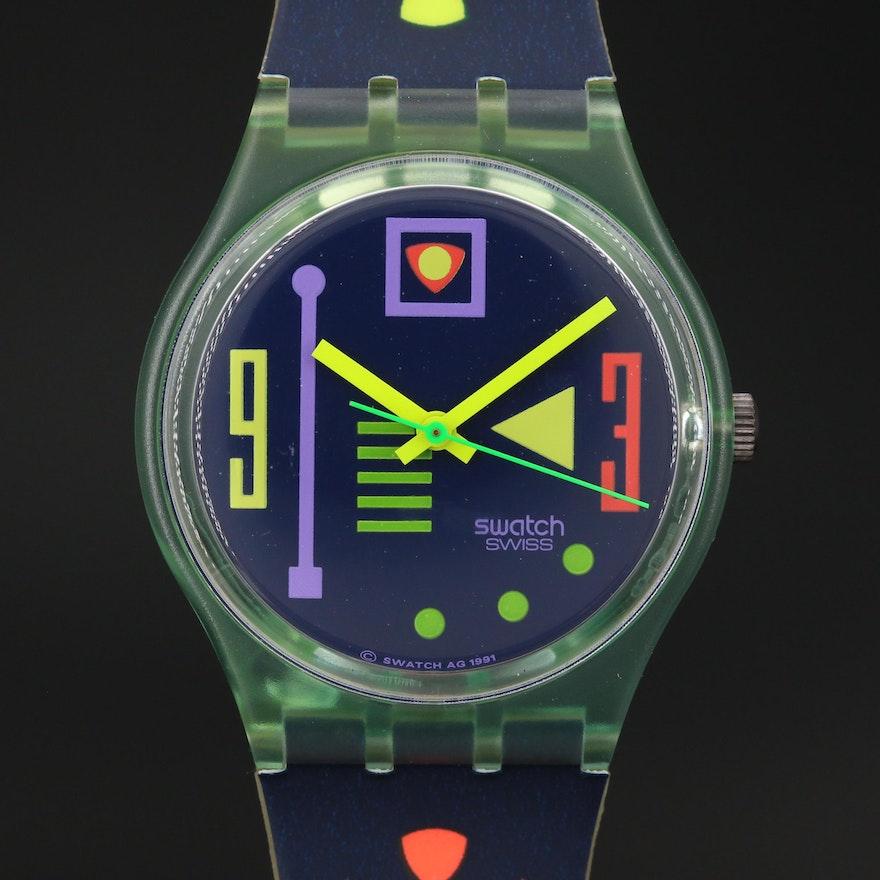 Circa 1991 Swiss Swatch Wristwatch