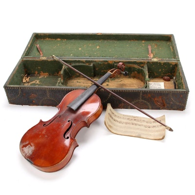 J. Barbé 4/4 Violin, Early 19th Century