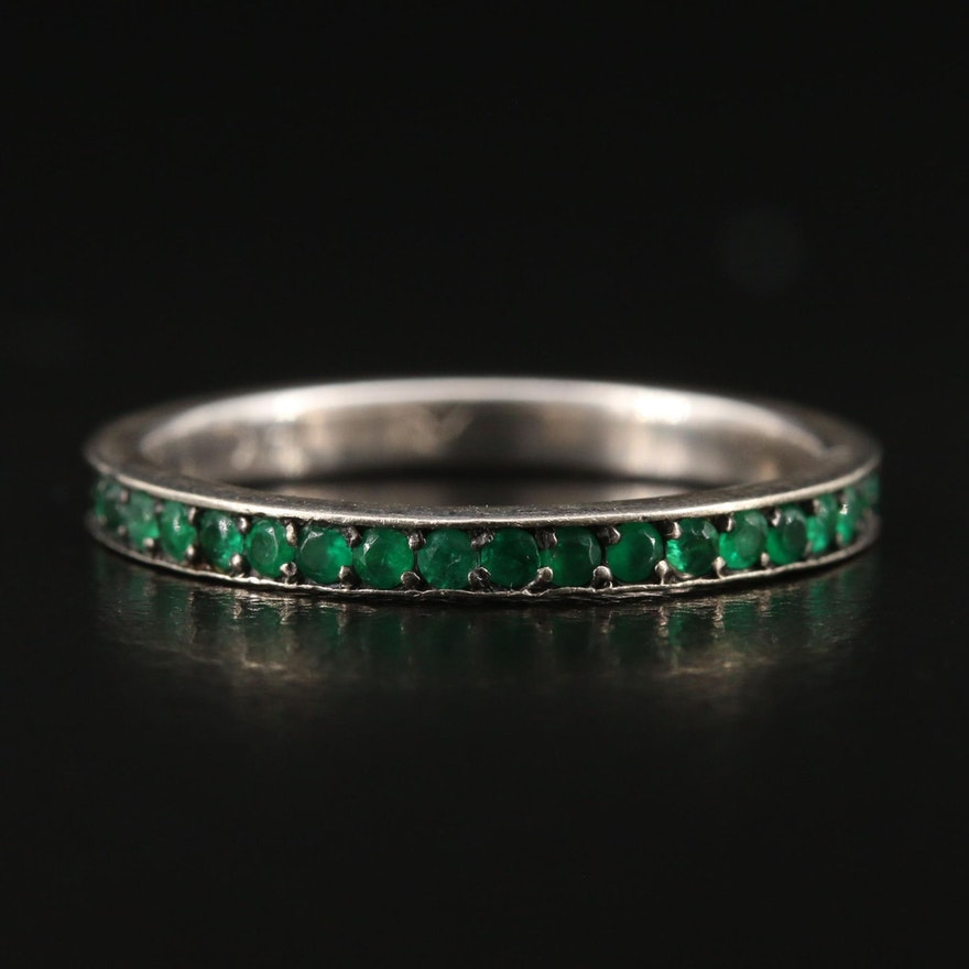 14K Emerald Eternity Band