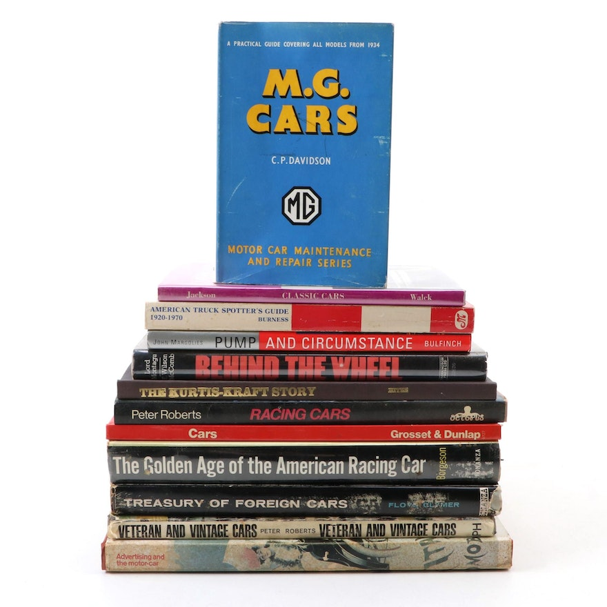 """Automobile History and Advertising Books Including """"Treasury of Foreign Cars"""""""