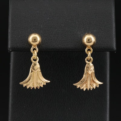 Egyptian 18K Papyrus Earrings