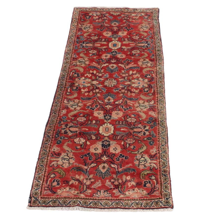 2'11 x 8'3 Hand-Knotted Persian Tabriz Carpet Runner, 1960s