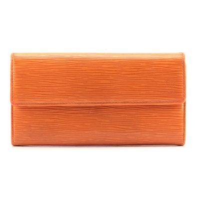 Modifed Louis Vuitton Epi Leather Sarah Wallet