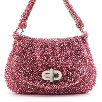 Anteprima Pink Loop Holographic Flap Bag