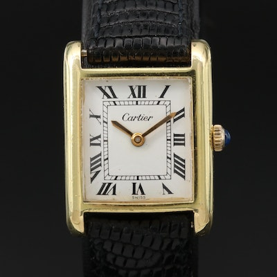 Cartier 18K Gold Plated Wristwatch