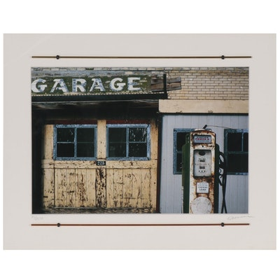 Chromogenic Color Photograph of Garage, 21st Century