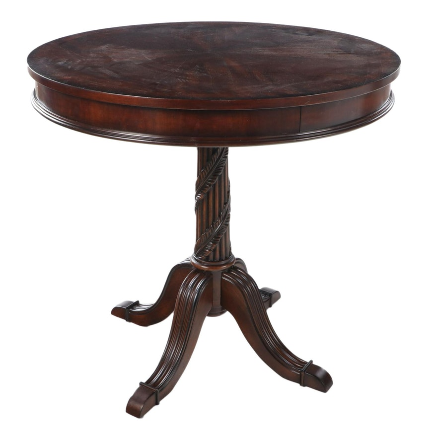 The Uttermost Co. Classical Style Mahogany and Crossbanded Side Table