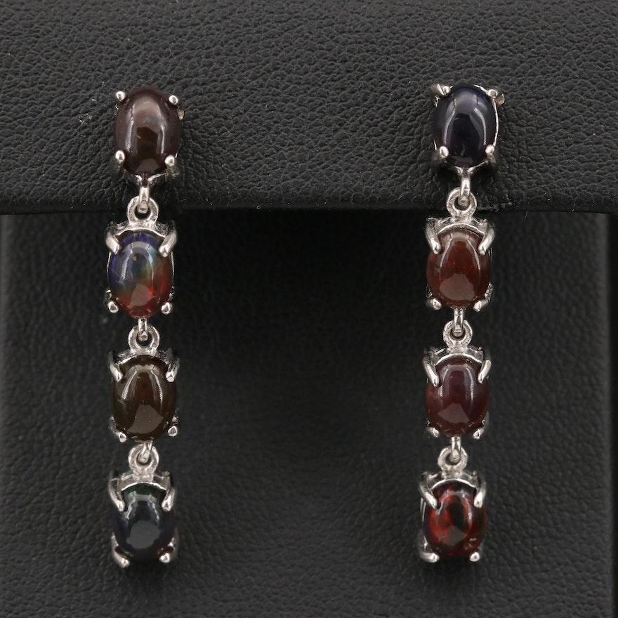 Sterling Opal Dangle Earrings