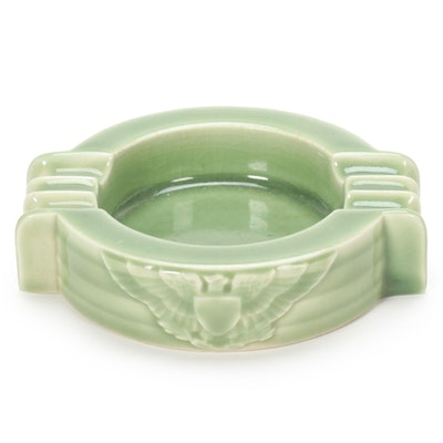 Rookwood Pottery High Glaze Jade Green Ashtray, 1944