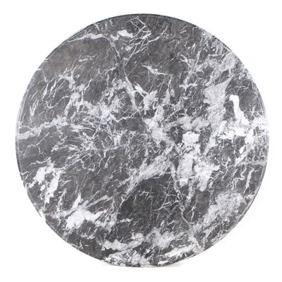 Round Black Marble Tabletop Slab