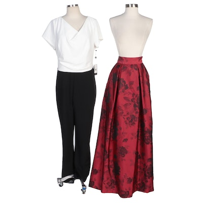 Jessica Howard Floor Length Skirt and Adrianna Papell Jumpsuit