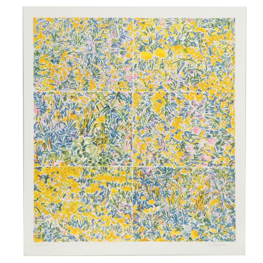 "George Chemeche Serigraph ""Composed Field II,"" 1979"