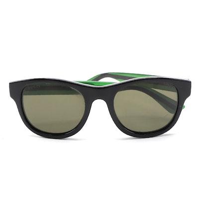 Gucci Havana GG0003S Green Web Sunglasses