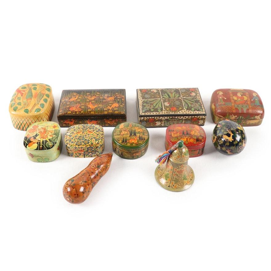 Asian Lacquerware Trinket Boxes