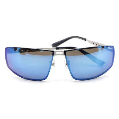 Men's Chopard Polarized Blue Frame Sunglasses with Case