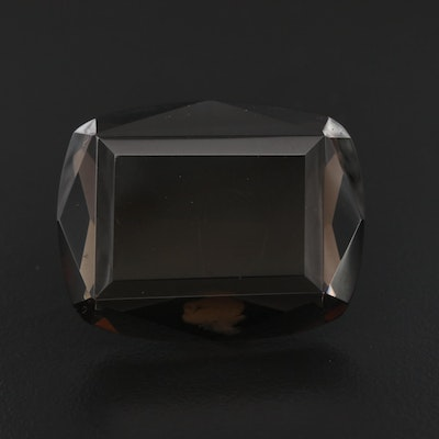 Loose 72.66 CT Cushion Cut Smoky Quartz