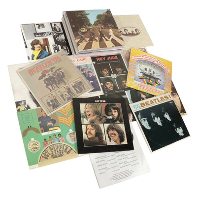 "The Beatles ""Beatles '65"" with Other Vinyl Records and Memorabilia"