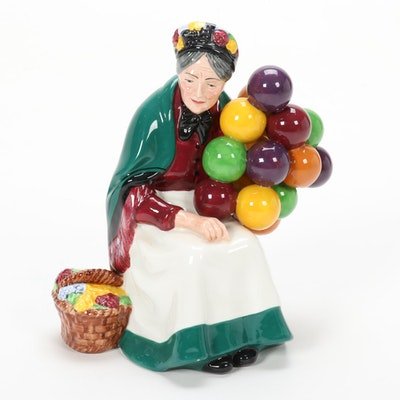 "Royal Doulton ""The Old Balloon Seller"" Porcelain Figurine"